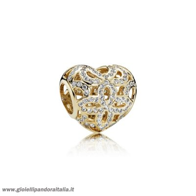 Vendita Simboli D'Amore Charms Amore Appreciation Charm Chiaro Cz 14K Oro On Line