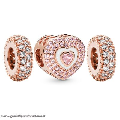 Vendita Pandora Rose Cuori Su Cuori Charm Pack On Line