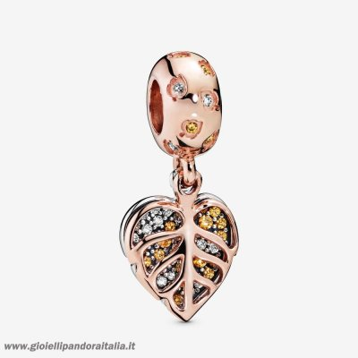 Vendita Pandora Rose Foglie Scintillanti Appese Fascino On Line