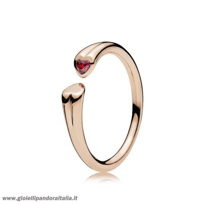 Vendita Two Cuores Anelli Pandora Rose Red On Line