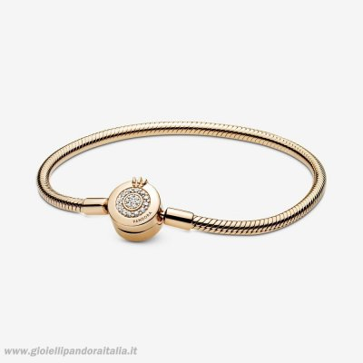 Vendita Pandora Moments Scintillante Corona O Catena Di Serpenti Shine Bracciali On Line